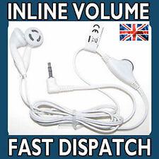 Cuffie Auricolari per SONY PSP & DS Lite Inline Controllo Del Volume BIANCO