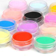 12 Colors Acrylic Nail Art Tips UV Gel Powder for Liquid 3D Decor Manicure Set