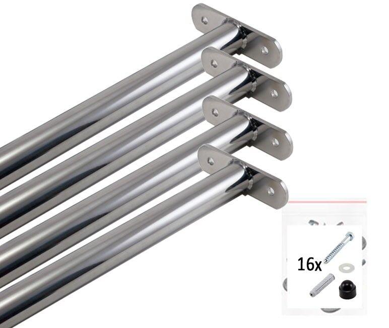 4x Turnstange Reckstange Edelstahl Turnreck für Spielturm 90 cm mit schrauben