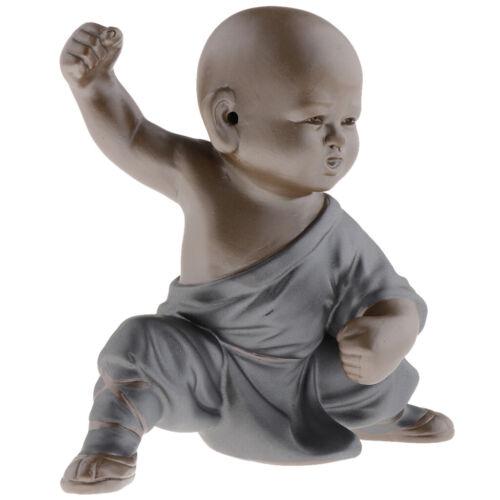 Baby Kung fu Buddha Tea Tray Decor Statue Multi-shaped Decorations Ceramic