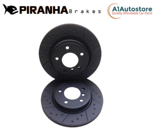 Front Brake Discs For Impreza 2.0 WRX STi 100mm PCD 03-05 Coated Black Piranha