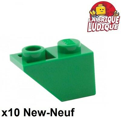 NEW. 92946 LEGO: Pack of 10 White Slope 45 2X1 with Cutout.