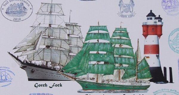 Stetig Gorch Fock Alex Leuchtturm Rotersand Sail Bremerhaven Segelschiff Marine Maritim