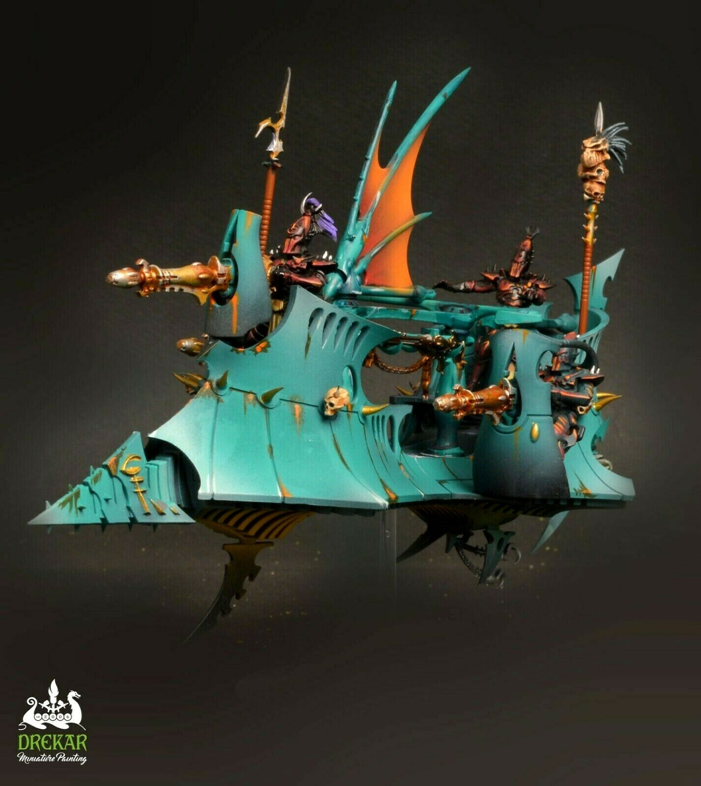 Ravager drukhari Dark Eldar Warhammer 40K   Comisión Pintura