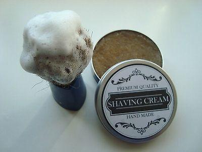 100g Shaving Cream Hatural Organic Handmade in aluminium jar  Rasierseife