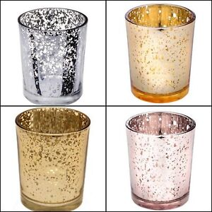 Image Is Loading Mercury Speckle Gl Tealight Votive Candle Holders Wedding