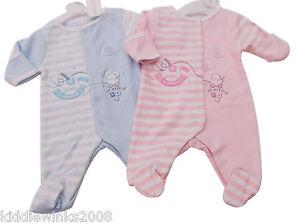9a29b0447 BNWT Tiny Baby Premature Preemie Baby 100% cotton romper sleepsuit ...