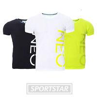 Adidas Neo Logo T-Shirt Herren - lime - schwarz - weiß - Gr. XS - XXL - NEU OVP