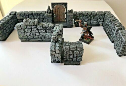 Tabletop Gelände Gips Hirst Arts Labyrinth Mauern Dungeon Tür Pforte Wall