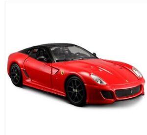 Bburago-1-24-Ferrari-599-GTO-Red-Diecast-Model-Sports-Racing-Car-NEW-IN-BOX