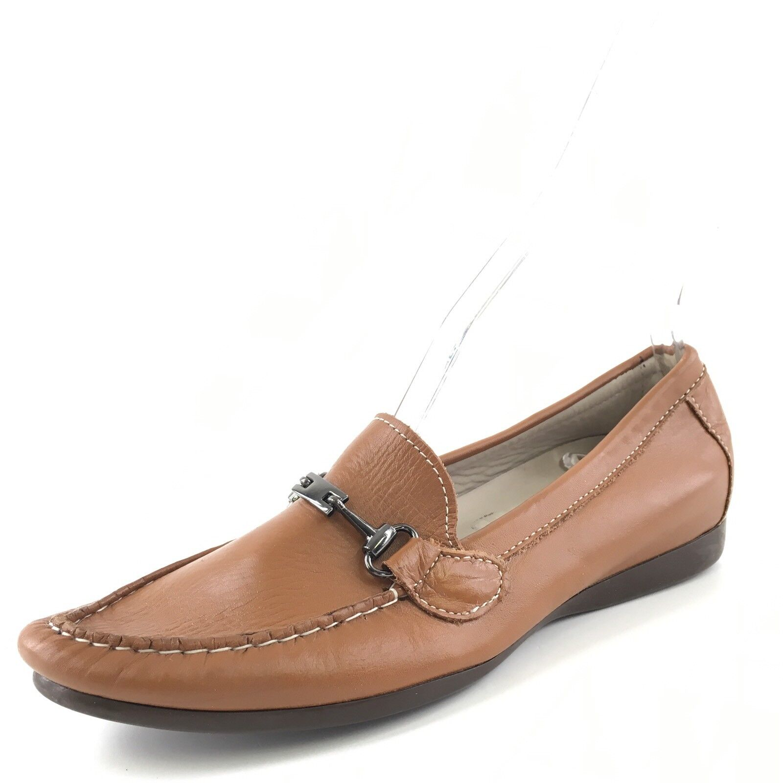Munro American Kimi Brown Leather Leather Brown Casual Flats Comfort Loafers Women's Size 7 N* 4693ce