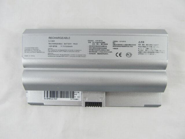 Battery Sony VAIO FZ Series Notebook PC VGP-BPL8A VGP-BPS8 5200mAh
