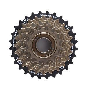 Seven-7-Velocidad-Rueda-Libre-Tornillo-en-bicicleta-ciclismo-bici-14-28-Dientes-Universal