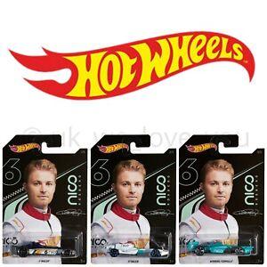 HOT-WHEELS-Nico-Rosberg-GGC34-Cars-F1-Racer-vincente-FORMULA-1-SCALA-1-64-Diecast