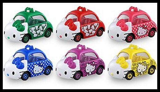 TOMICA Dream Hello Kitty Set VOL. 2 EDITION 2017 6 MODELS TOMY DIECAST CAR NEW