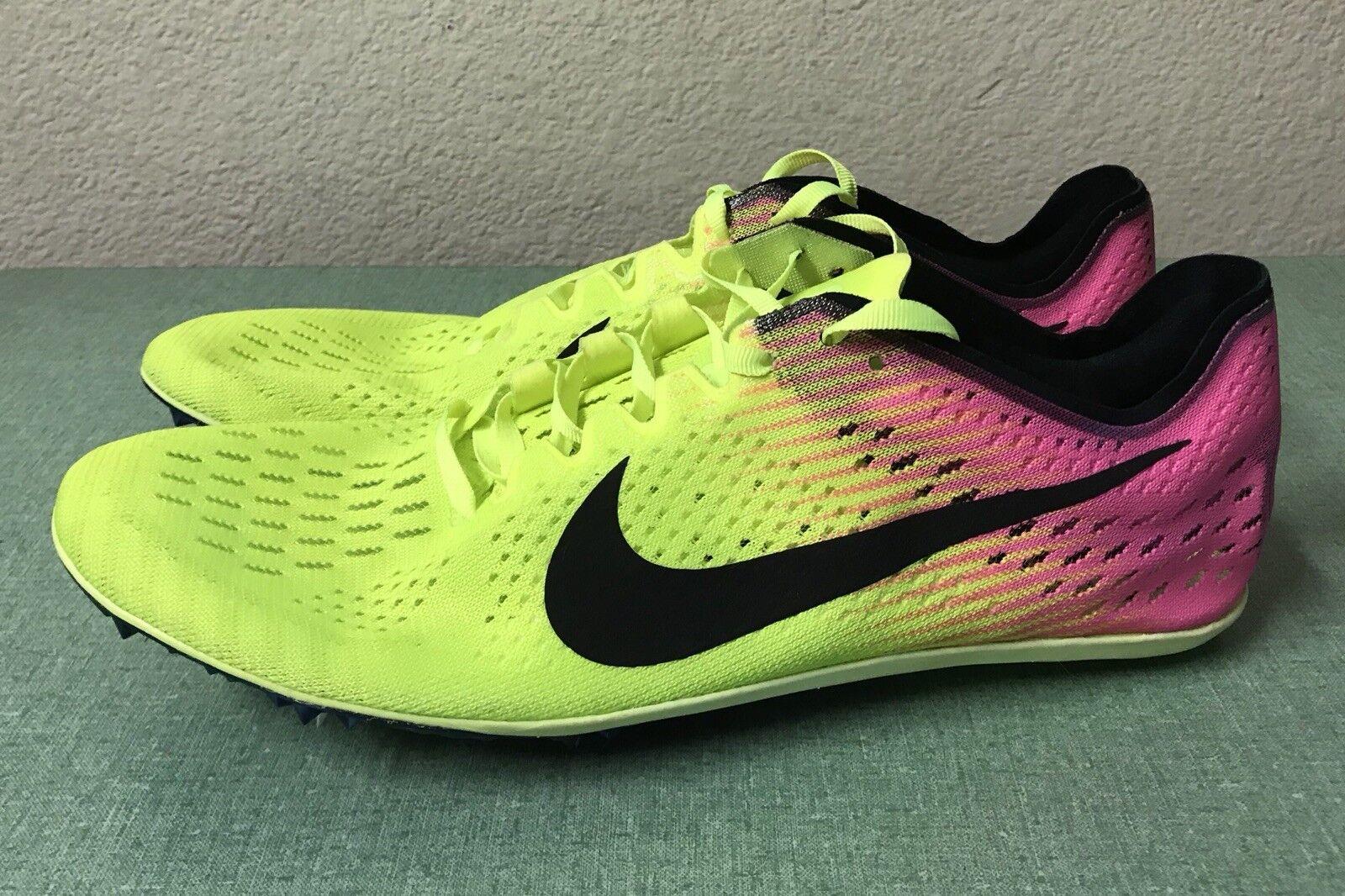Nike Zoom Victory Elite 2 Sz Volt Noir rose Hommes Sz 2 11 Track & Field Spikes NEW 78d3c2