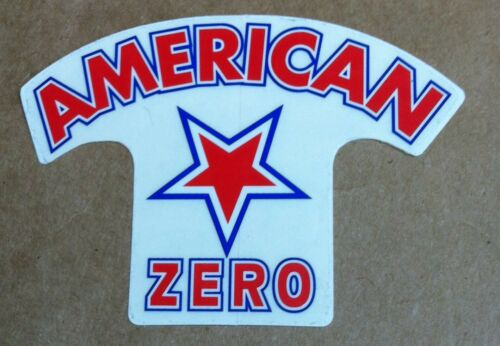 Vintage white Zero American hardcore rocabilly skateboard stickers /& decals