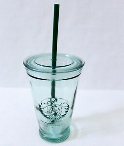 5b57a493079 Image is loading Starbucks-Clear-Embossed-Siren-Recycled-Glass-Cold-Cup-