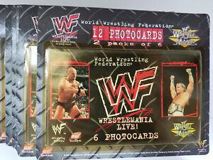 WWF-World-Wrestling-Federation-Wrestlemania-Live-Photocards-12-Pack-LOT-SET