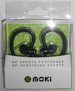 Moki-90-SPORTS-EARPHONES-Black-NEW-mp3-music-player-ear-Head-Phones-headphones