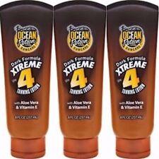 3x Ocean Potion Dark Formula XTREME Tanning Lotion SPF 4 Aloe Vera Sun tan