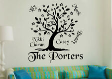 Family Tree Personalised Wall Art Sticker/Decal