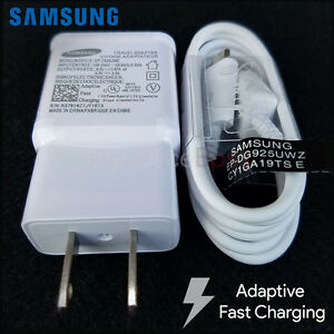 OEM Samsung Galaxy Note 4 S6 S7 Edge Adaptive Fast Rapid Charger EP TA20JWE New