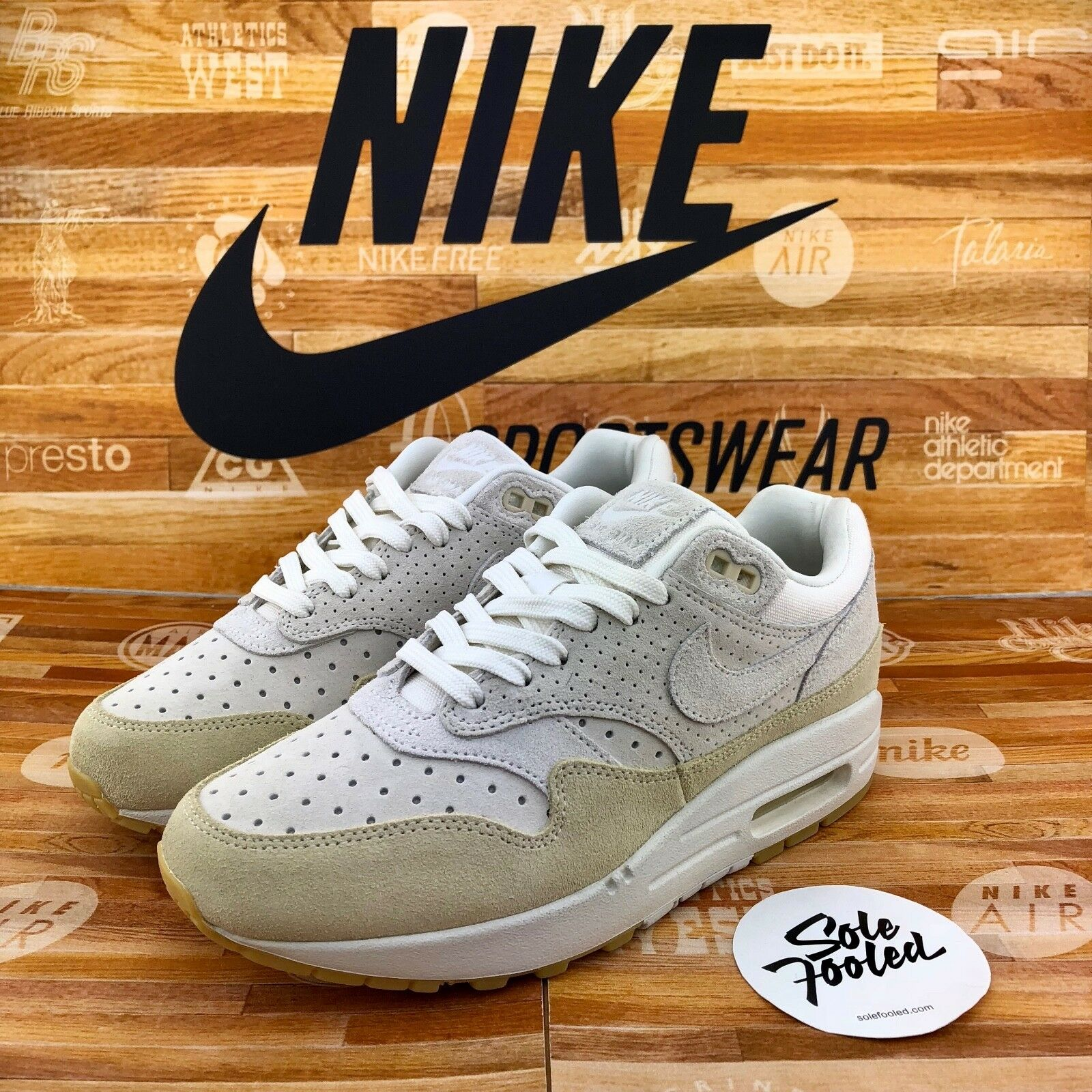 Nike wmns Air Max 1 1 1 PRM 454746 110-Sail Fossil 37.5 40 6.5 8.5 og 87 90 95 97  compras en linea