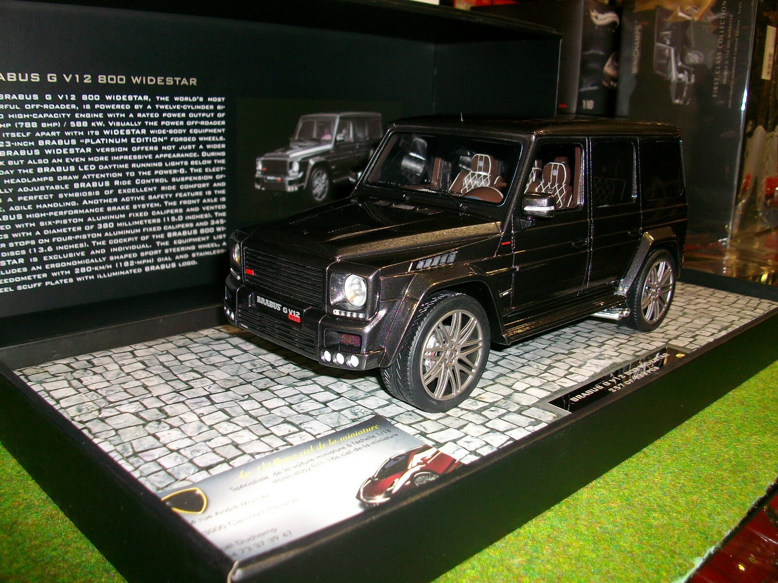 BRABUS G V12 800 WIDESTAR 1 18 MINICHAMPS 107032300 voiture miniature collection