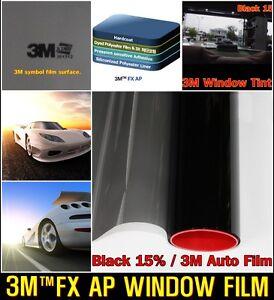 3m tm wide 20 vlt15 black solar film tint window glass for 20 window tint film