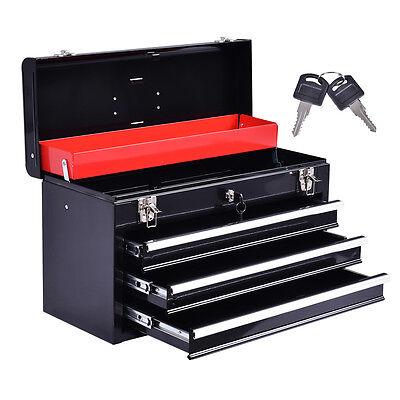 Werkzeugkasten Werkzeugkoffer Werkzeugkiste Schubladenschrank 3 Schubladen+Fach