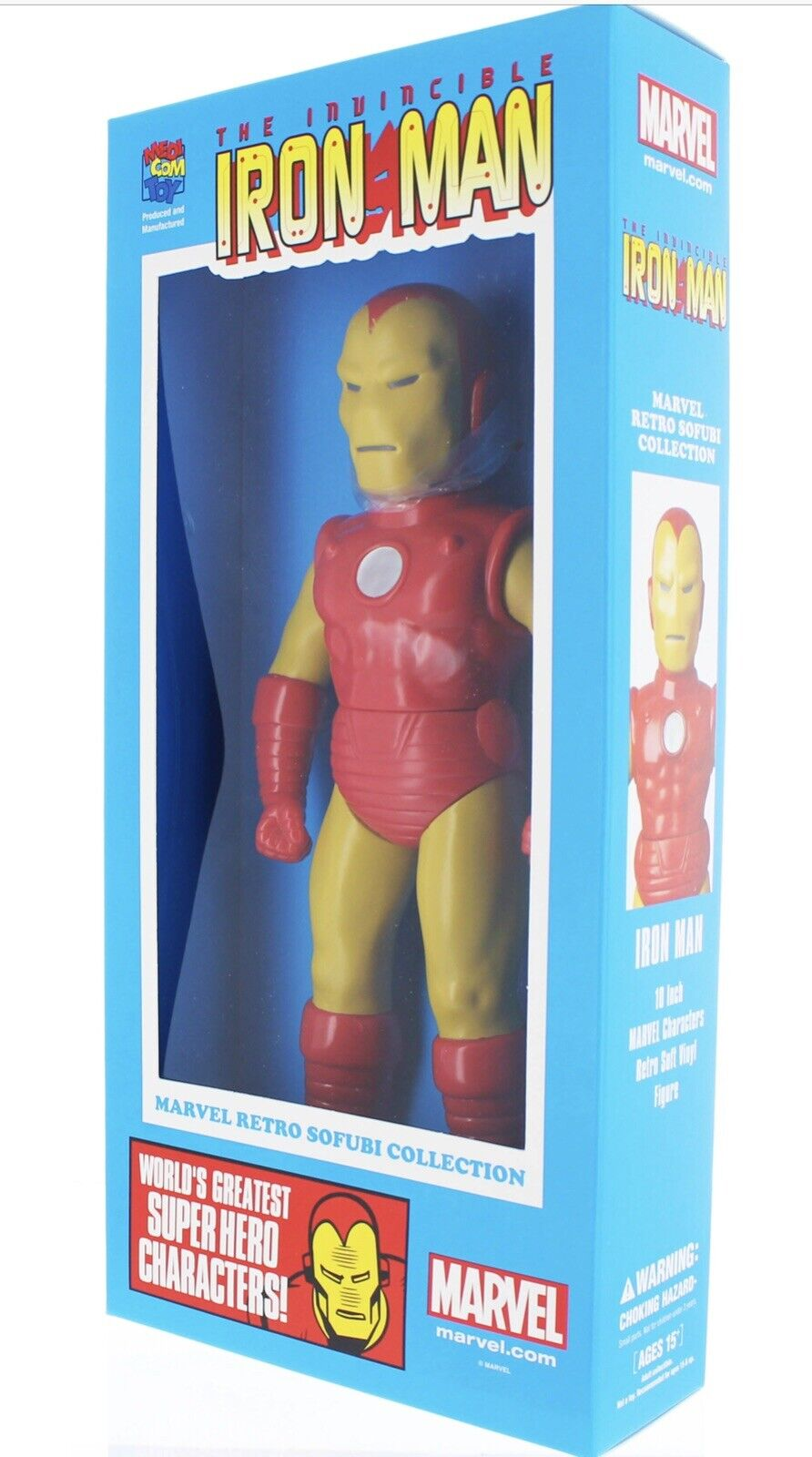 MEDICOM TOY Marvel Comics Retro Sofubi Collection IRON MAN 10   Vinyl figure MIB
