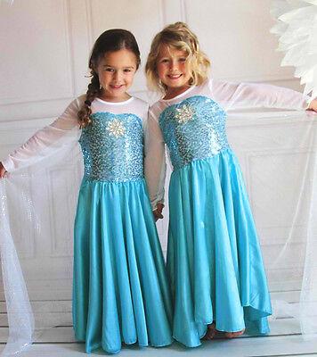 CARNEVALE COSTUME FROZEN dress bambina ELSA VESTITO BIMBA TRAVESTIMENTO 812 new