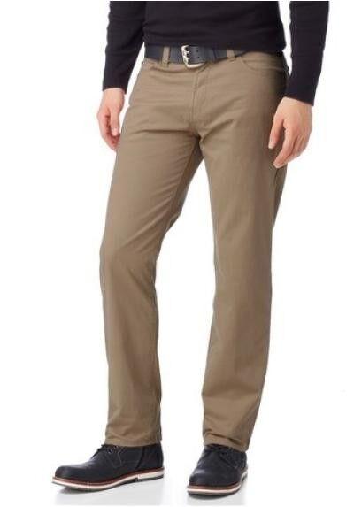 Arizona Twill Pants Kurz-Gr.29 (58) Men's Trousers Beige Stretch Straight Fit
