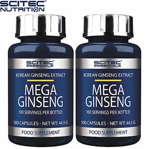 Mega-Ginseng-100-300-Caps-Energy-Endurance-Anti-Stress-Fatigue-Korean-Panax-Root