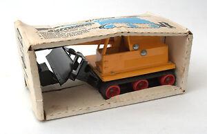 Bulldozer Trencher Hi-Way Vintage Tri-ang Toys * En boîte des années 1970