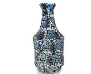 West-Germany-Vase-Ceramic-Mid-Century-Modern-Art-Pottery-Blue-Funky-Vintage