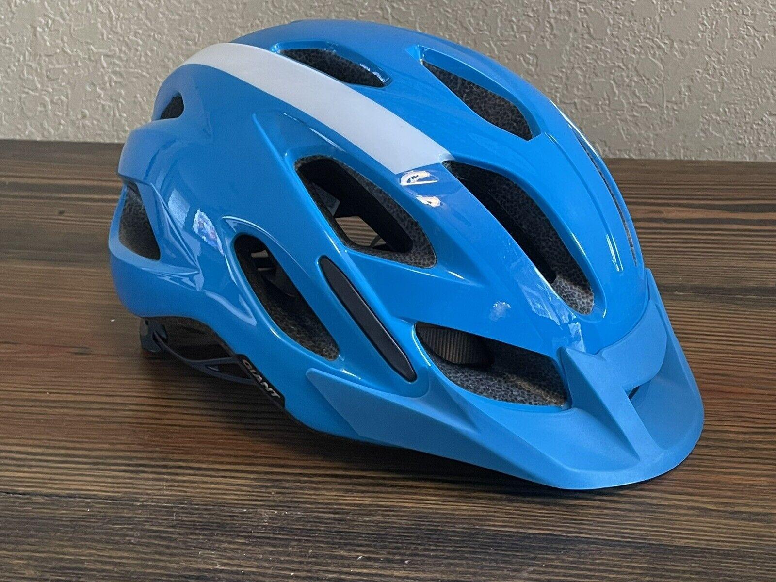 NEW IN BOX GIANT COMPEL Bicycle Bike Helmet White Adult Medium-Large 53-61cm