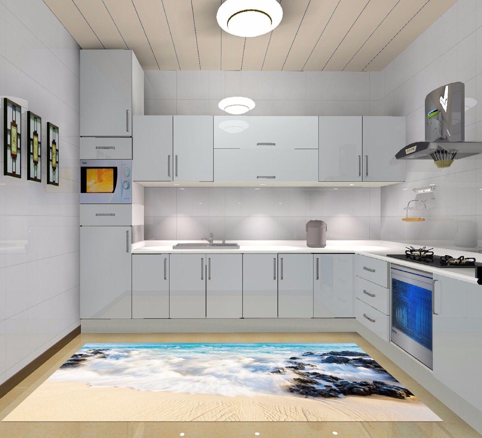 3D Beach Stone 748 Kitchen Mat Floor Murals Wall Print Wall Deco UK Carly