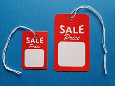 Sale Price Tags Red White String Strung Large Small Retail Merch Hang Coupon