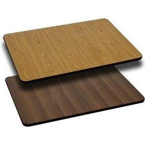 Rectangular Table Top with Natural or Walnut Reversible Laminate Top (Top Only)