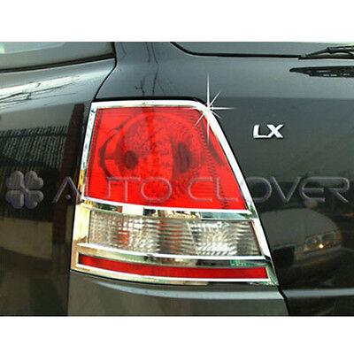 Rear Chrome Tail Light Lamp Cover Molding Trim 2p For 2003 2006 Kia Sorento