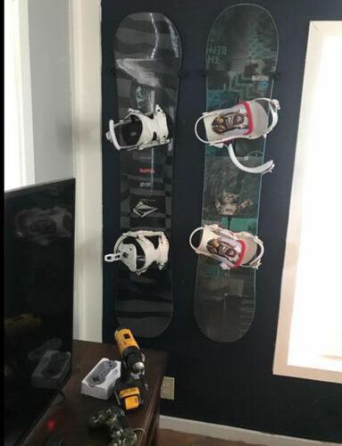 Invisible Rack Ski /& Snowboard 6 Wall Hanging Holder Garage Storage Organizer