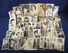 53 Hollywood Silent Movie Film Stars Photos Actors Actress Early Fan Studio Etc.