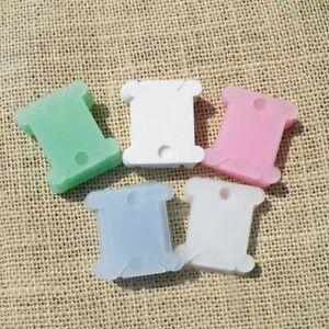 Plastic-Thread-Bobbins-for-Cross-Stitch-Embroidery-Floss-amp-Craft-Storage-100PCS