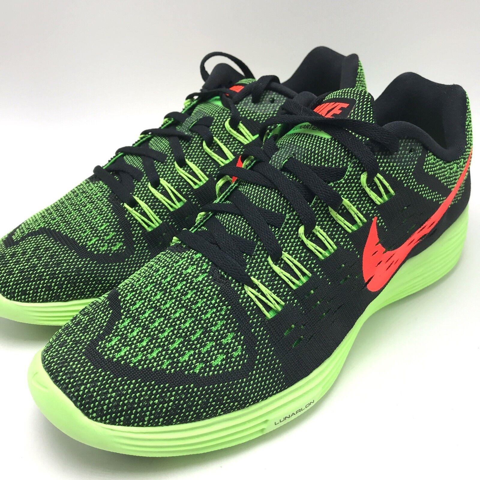 Nike Lunartempo Black Hyper orange-Green Strike Men's Running shoes 705461-006