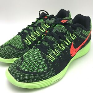 sports shoes 7c3e7 36467 Image is loading Nike-Lunartempo-Black-Hyper-Orange-Green-Strike-Men-