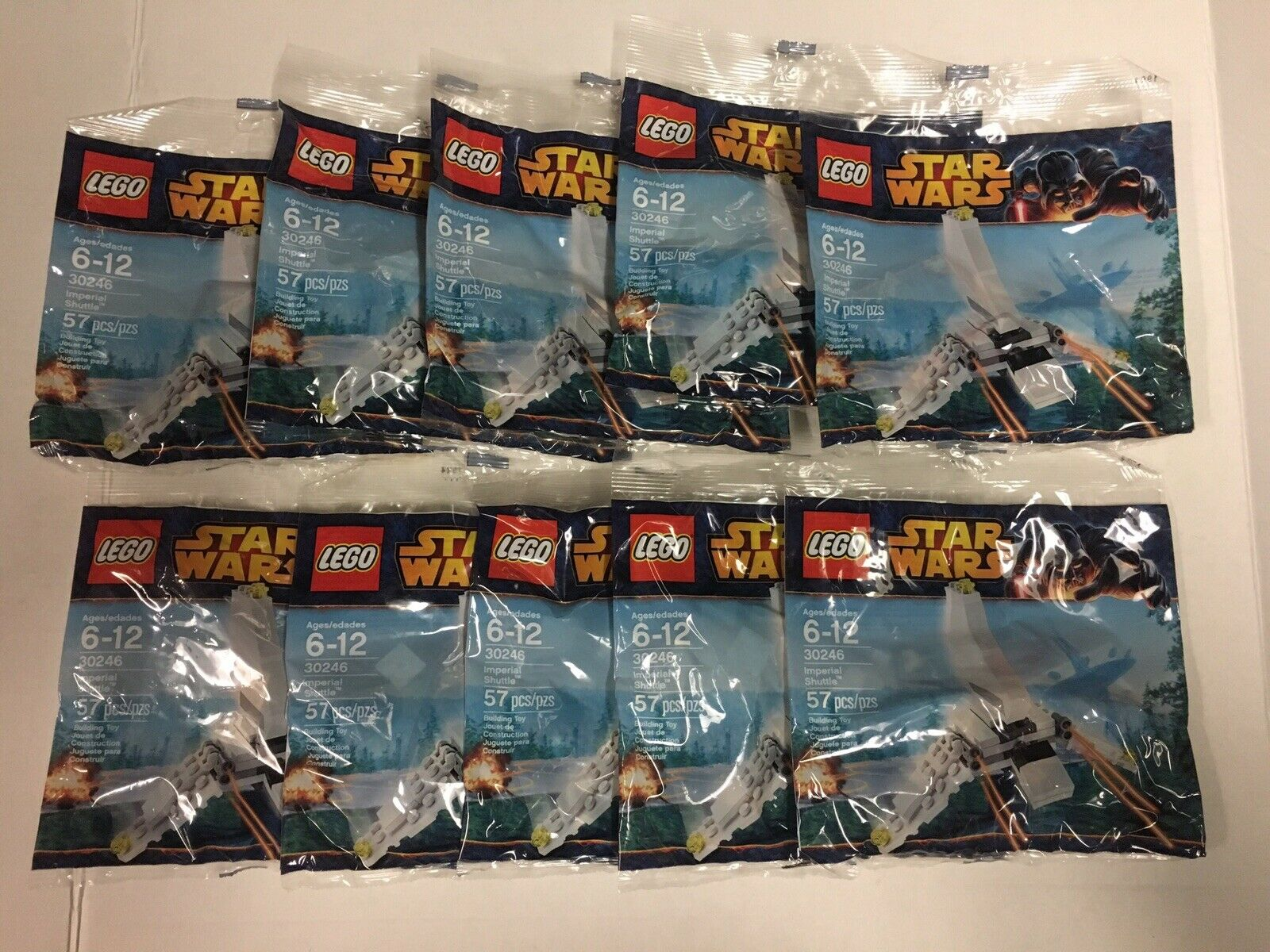 Lot Of 10 Lego 30246 Star Wars Imperial Shuttle New Sealed Polybags