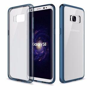 ORIGINAL-ROCK-Silicona-Funda-Estuche-Transparente-Azul-para-Samsung-Galaxy-S8