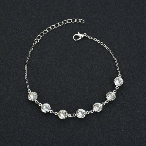 New Simple Style Crystal Rhinestone Bead Chain Ankle Bracelet Foot Anklet
